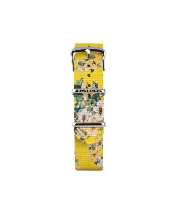 Cinturino giallo fiori in nylon 14mm , collezione floreal .