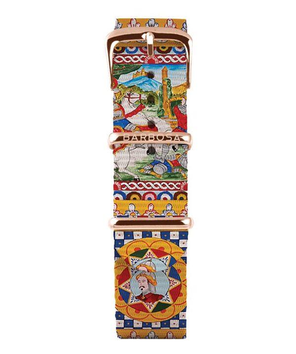 Cinturino Carretto Siciliano in nylon 18mm , collezione mediterranean