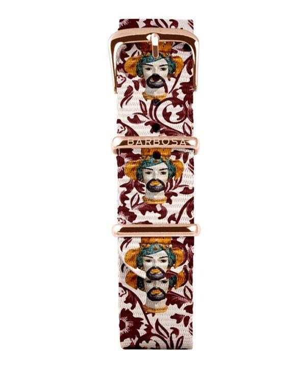 Cinturino Testa di moro in nylon 18mm , collezione mediterranean