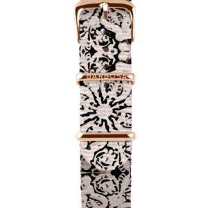 Cinturino Barocco  in nylon 18mm , collezione mediterranean .