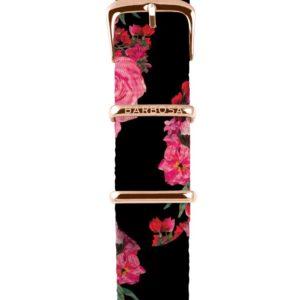 Cinturino Rose  in nylon 18mm , collezione floreal