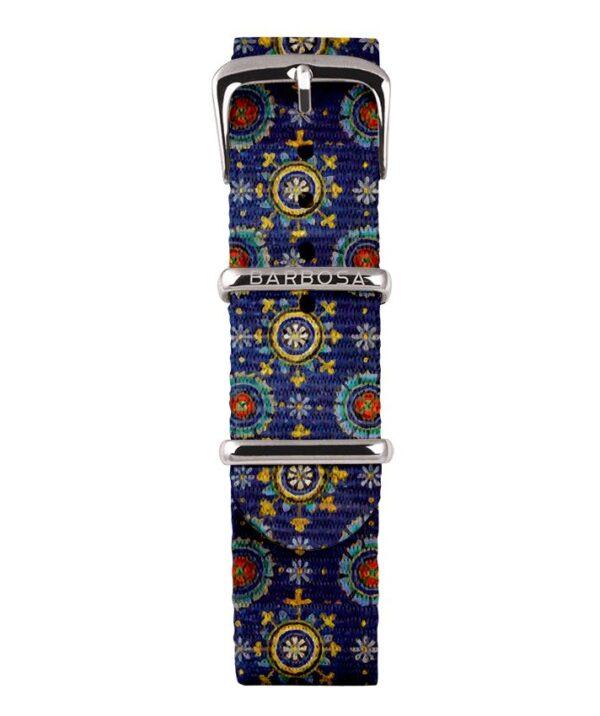 Cinturino Mosaico in nylon 18mm , collezione mediterranean .