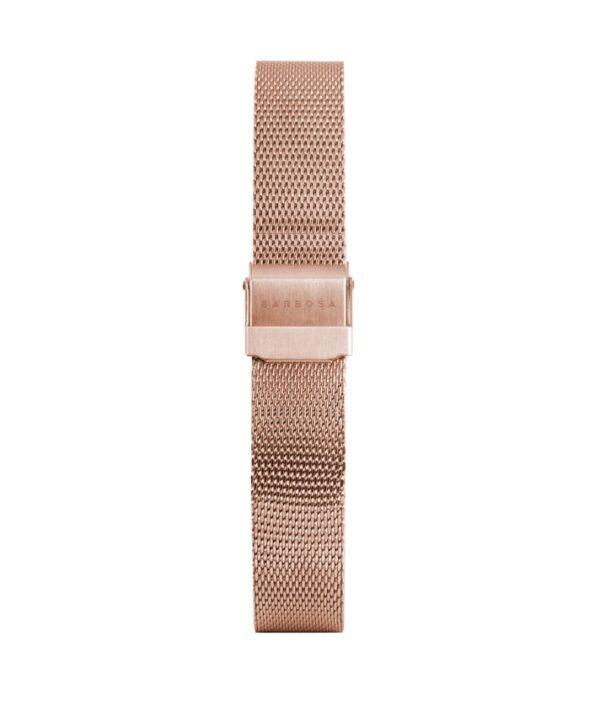 Cinturino rosato  maglia milano  14mm
