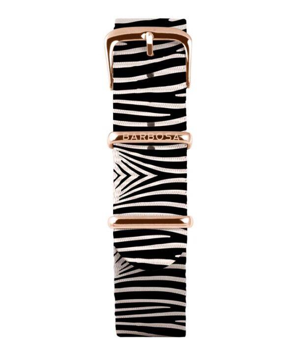 Cinturino Zebra in nylon 18mm , collezione animalier