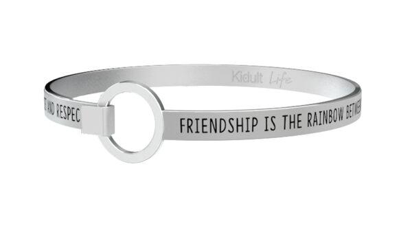 Bracciale Kidult, LOVE,  FRIENDSHIP IS THE RAINBOW...
