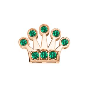 Elemento Corona con Smeraldi in oro rosa -Elements- DonnaOro