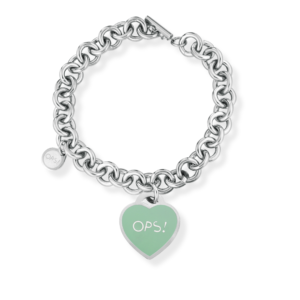 Bracciale Cuore color Tiffany  OPS! Paint