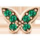 Elemento Farfalla con Smeraldi in oro rosa -Elements- DonnaOro